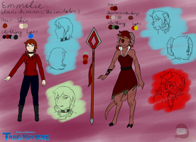 Trollhunters OC Emmelie ref sheet (Outdated) by PastellTofu
