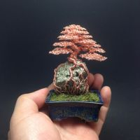 Root-over-rock wire bonsai by Ken To by KenToArt