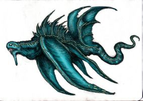 Dream Bioluminescent Beast (Colored) by KingOvRats