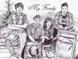 Landscape Family Picture by fxgatramaheswara
