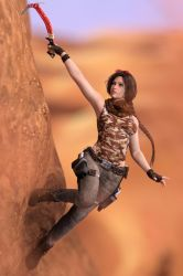 Gina adventurous in desert 3 by FranPHolland