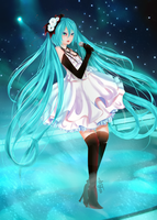 Miku Hatsune | Camellia, in Stage by Aya-DNA