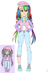 MLP Pastel Girl Challenge - Rainbow Dash by ilaria122