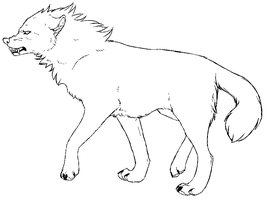 Free Wolf Lineart 2 by KaylaScelson