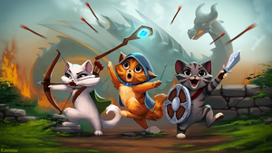 Castle Cats finally released! by Kamirah