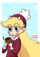 Star With hot chocolate by glitteringcreations