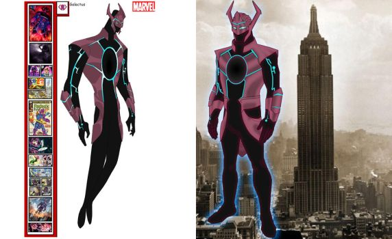 Galactus redesign and his size scale by MOMOpJonny