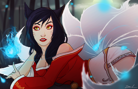 Ahri by lieusum