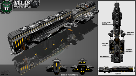 Atlas Class Dreadnought by Calates