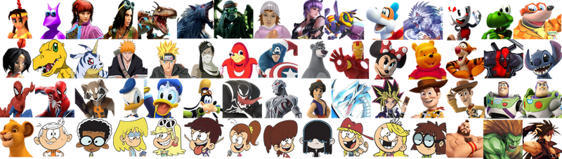 Character Icons I Made for the SSB Roster Maker by MrYoshi1996