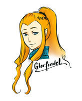 Glorfindel Sketch by JayEyBee