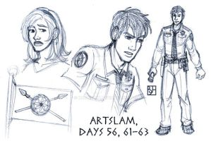 Artslam: Muse Days 56, 61-63 by KabochaN