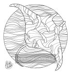 Giant Manta Ray (The Exotic Colouring Book)