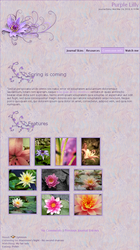 Purple Lilly CSS +Gallery by NellyAsher