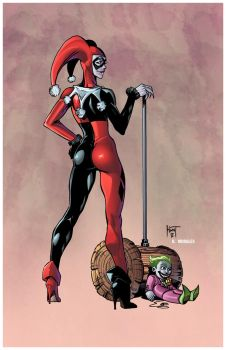 HARLEY QUINN by Ken Hunt colored by Dany-Morales