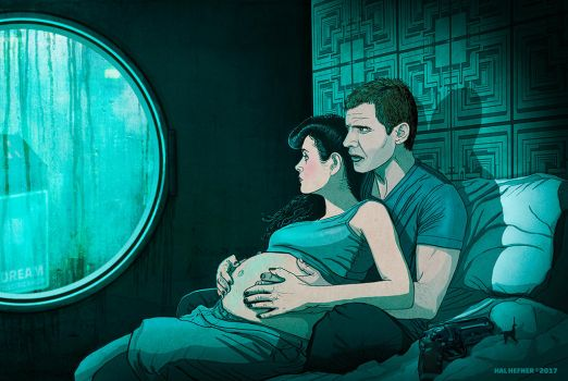 THE UNICORN - Pregnant Rachel Blade Runner 2049 by HalHefnerART