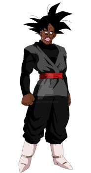 Black Goku by ocelotejaguar