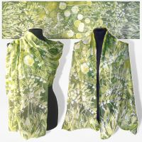 Silk Scarf Lily Of The Valley - FOR SALE by MinkuLul