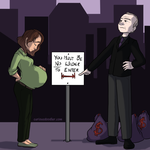 Pregnancy Discrimination - Editorial Illustration by curiousdoodler