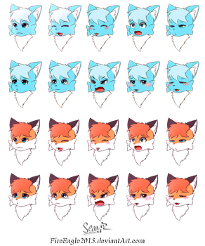 Face Expressions [Commission] by FireEagle2015
