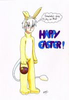 Unhappy Easter Bunny by GhostLiger
