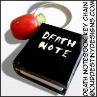 Death Notebook Key Chain V2 by OurDestinyDesigns