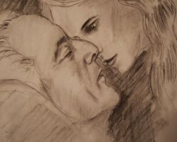 Malfoy and Hermione sketch by vincha