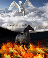 there is a hell, believe me by Brookdale-Art