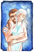 GoT Drogo and Daenerys by Pandablubb