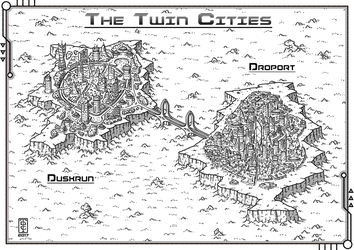 The twin Cities by TomDigitalGraphics