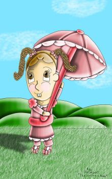 The Girl with a Parasol by KJHArtStudios