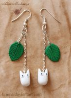 Chibi-Totoro Earrings by Krinna