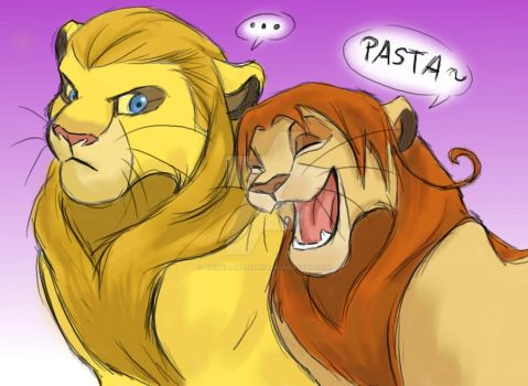 Germany and Italy-lion king style! by AnimeLionessMika
