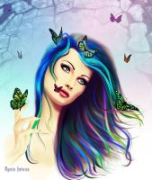 Buttefly girl by IgnisFatuusII