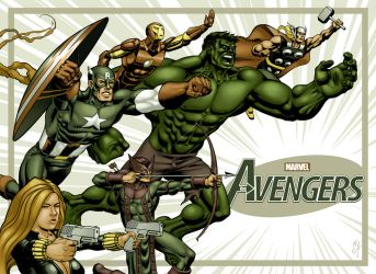 Marvel's Avengers by electronicron