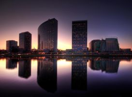 Oakland Skyline-HDR by geolio