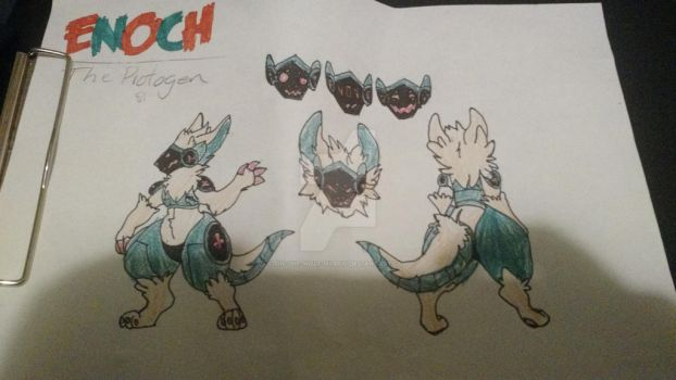 Official Enoch The Protogen Ref Sheet! by Sin-the-Wolf-Hybrid