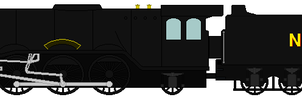 Flying Scotsman Wartime Livery Sprite by Zephyr4501