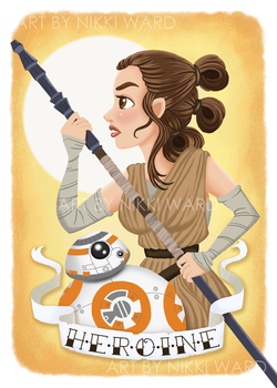 Rey the Heroine by NikkiWardArt