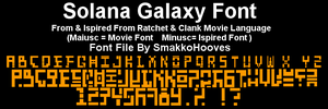 Ratchet Clank Movie Font - SolanaGalaxy by SmakkoHooves