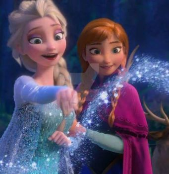 Happy Elsa and Anna by queenElsafan2015