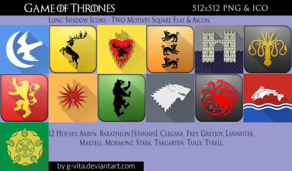 Game of Thrones Flat Icons by g-Vita