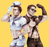 Resident evil - Captain Redfield appreciation art by hi-host