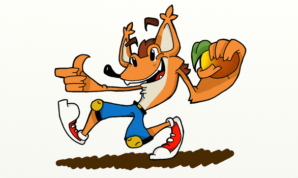 Crash Bandicoot by hyenawolf147