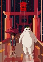 My friend baymax by Kidarike