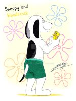 Snoopy and Woodstock by SAGADreams