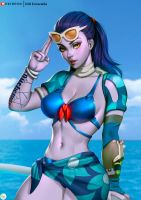 Widowmaker Summer Games Skin 2017 by Didi-Esmeralda