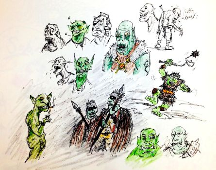 Orcs and Goblins by SquidHatJenkins