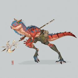 Carnotaurus by CamaraSketch