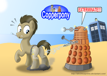 Coppertone Doctor Whooves by AleximusPrime